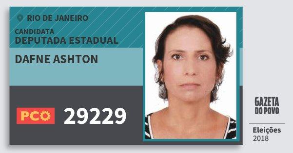 Santinho Dafne Ashton 29229 (PCO) Deputada Estadual | Rio de Janeiro | Eleições 2018
