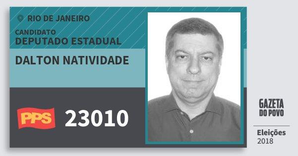 Santinho Dalton Natividade 23010 (PPS) Deputado Estadual | Rio de Janeiro | Eleições 2018