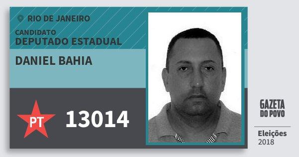 Santinho Daniel Bahia 13014 (PT) Deputado Estadual | Rio de Janeiro | Eleições 2018