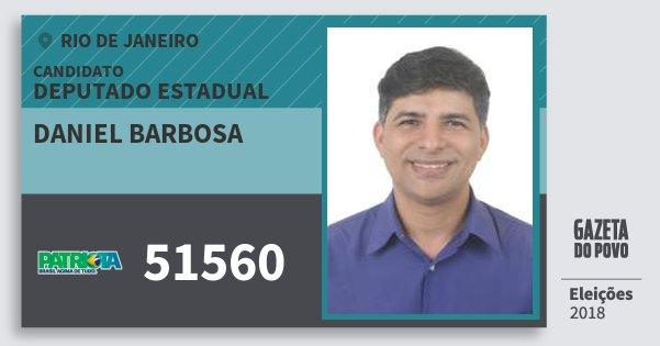 Santinho Daniel Barbosa 51560 (PATRI) Deputado Estadual | Rio de Janeiro | Eleições 2018