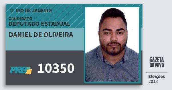 Santinho Daniel de Oliveira 10350 (PRB) Deputado Estadual | Rio de Janeiro | Eleições 2018