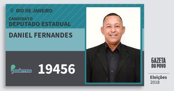 Santinho Daniel Fernandes 19456 (PODE) Deputado Estadual | Rio de Janeiro | Eleições 2018