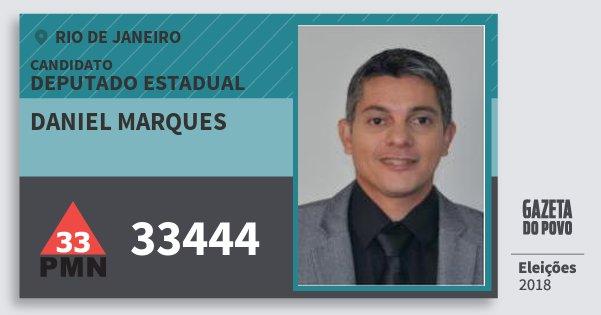 Santinho Daniel Marques 33444 (PMN) Deputado Estadual | Rio de Janeiro | Eleições 2018