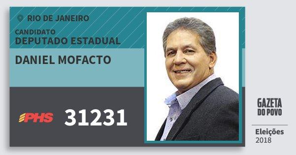 Santinho Daniel Mofacto 31231 (PHS) Deputado Estadual | Rio de Janeiro | Eleições 2018