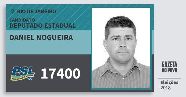 Santinho Daniel Nogueira 17400 (PSL) Deputado Estadual | Rio de Janeiro | Eleições 2018