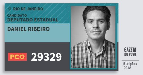 Santinho Daniel Ribeiro 29329 (PCO) Deputado Estadual | Rio de Janeiro | Eleições 2018