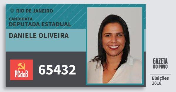 Santinho Daniele Oliveira 65432 (PC do B) Deputada Estadual | Rio de Janeiro | Eleições 2018