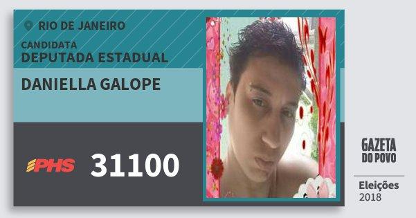 Santinho Daniella Galope 31100 (PHS) Deputada Estadual | Rio de Janeiro | Eleições 2018