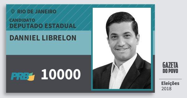 Santinho Danniel Librelon 10000 (PRB) Deputado Estadual | Rio de Janeiro | Eleições 2018
