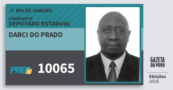 Santinho Darci do Prado 10065 (PRB) Deputado Estadual | Rio de Janeiro | Eleições 2018