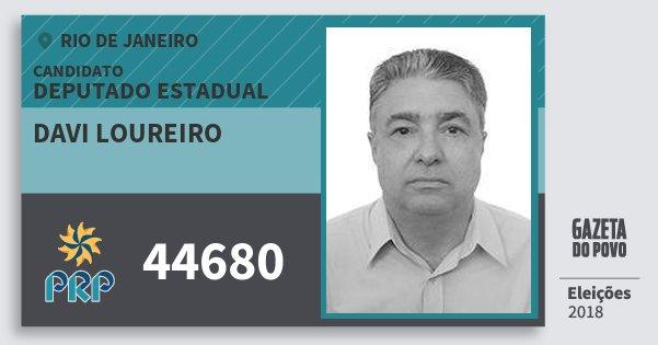 Santinho Davi Loureiro 44680 (PRP) Deputado Estadual | Rio de Janeiro | Eleições 2018