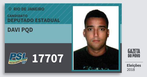 Santinho Davi Pqd 17707 (PSL) Deputado Estadual | Rio de Janeiro | Eleições 2018