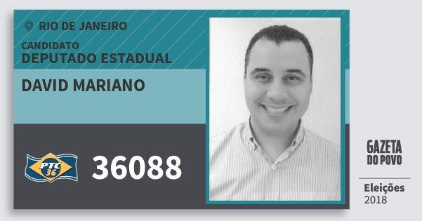 Santinho David Mariano 36088 (PTC) Deputado Estadual | Rio de Janeiro | Eleições 2018