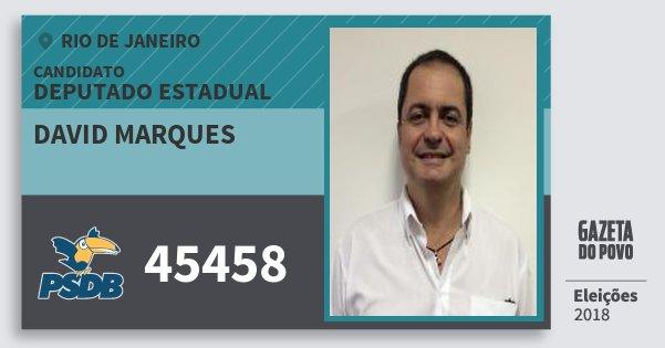 Santinho David Marques 45458 (PSDB) Deputado Estadual | Rio de Janeiro | Eleições 2018