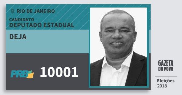 Santinho Deja 10001 (PRB) Deputado Estadual | Rio de Janeiro | Eleições 2018