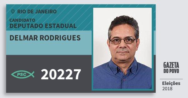 Santinho Delmar Rodrigues 20227 (PSC) Deputado Estadual | Rio de Janeiro | Eleições 2018