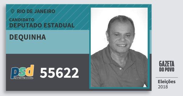 Santinho Dequinha 55622 (PSD) Deputado Estadual | Rio de Janeiro | Eleições 2018