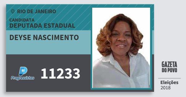 Santinho Deyse Nascimento 11233 (PP) Deputada Estadual | Rio de Janeiro | Eleições 2018