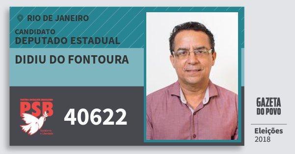 Santinho Didiu do Fontoura 40622 (PSB) Deputado Estadual | Rio de Janeiro | Eleições 2018
