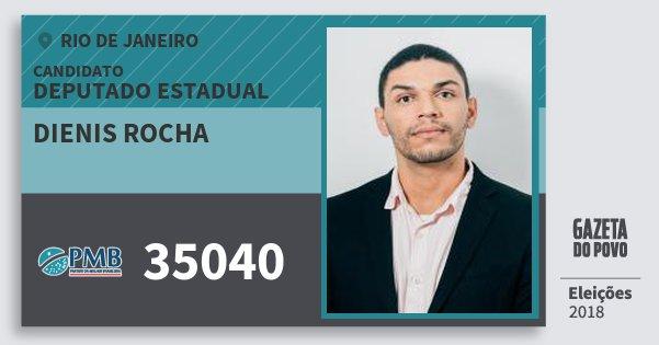 Santinho Dienis Rocha 35040 (PMB) Deputado Estadual | Rio de Janeiro | Eleições 2018