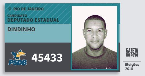 Santinho Dindinho 45433 (PSDB) Deputado Estadual | Rio de Janeiro | Eleições 2018