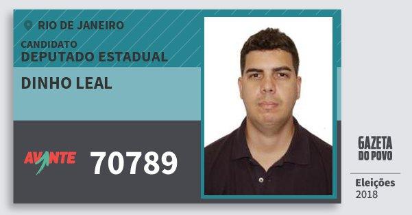 Santinho Dinho Leal 70789 (AVANTE) Deputado Estadual | Rio de Janeiro | Eleições 2018