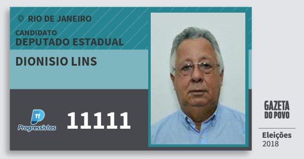 Santinho Dionisio Lins 11111 (PP) Deputado Estadual | Rio de Janeiro | Eleições 2018