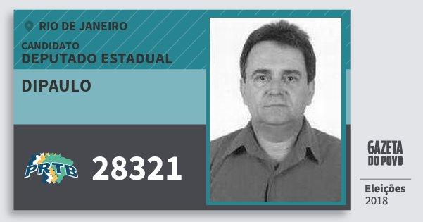 Santinho Dipaulo 28321 (PRTB) Deputado Estadual | Rio de Janeiro | Eleições 2018