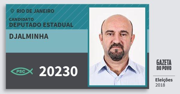 Santinho Djalminha 20230 (PSC) Deputado Estadual | Rio de Janeiro | Eleições 2018