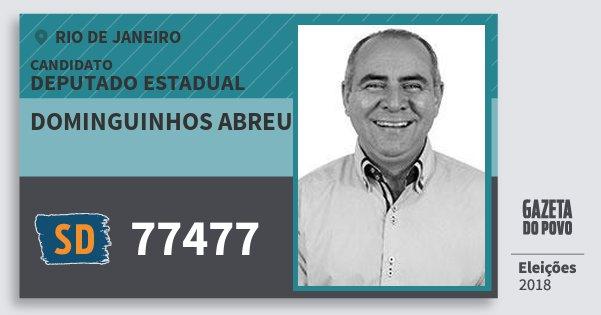 Santinho Dominguinhos Abreu 77477 (SOLIDARIEDADE) Deputado Estadual | Rio de Janeiro | Eleições 2018