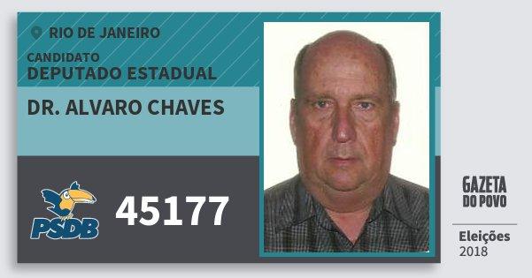 Santinho Dr. Alvaro Chaves 45177 (PSDB) Deputado Estadual | Rio de Janeiro | Eleições 2018