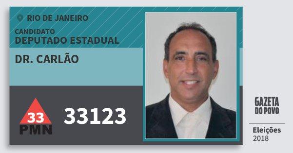 Santinho Dr. Carlão 33123 (PMN) Deputado Estadual | Rio de Janeiro | Eleições 2018