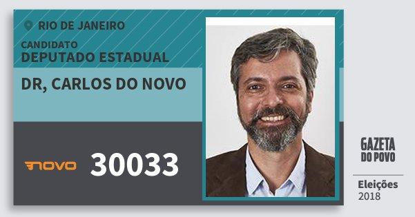 Santinho Dr, Carlos do Novo 30033 (NOVO) Deputado Estadual | Rio de Janeiro | Eleições 2018