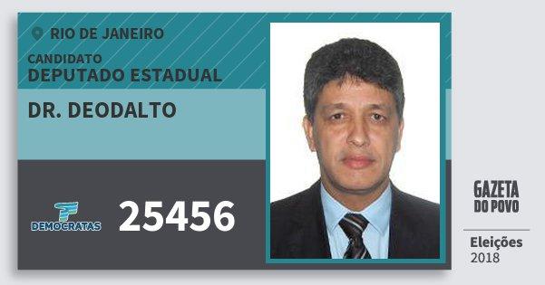 Santinho Dr. Deodalto 25456 (DEM) Deputado Estadual | Rio de Janeiro | Eleições 2018