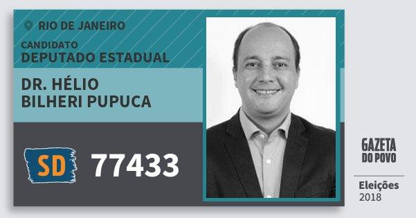 Santinho Dr. Hélio Bilheri Pupuca 77433 (SOLIDARIEDADE) Deputado Estadual | Rio de Janeiro | Eleições 2018