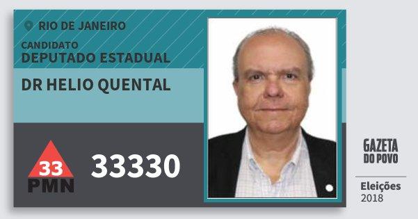 Santinho Dr Helio Quental 33330 (PMN) Deputado Estadual | Rio de Janeiro | Eleições 2018