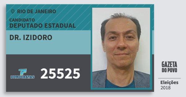 Santinho Dr. Izidoro 25525 (DEM) Deputado Estadual | Rio de Janeiro | Eleições 2018