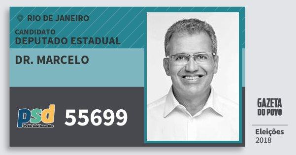 Santinho Dr. Marcelo 55699 (PSD) Deputado Estadual | Rio de Janeiro | Eleições 2018