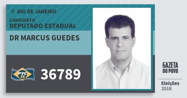 Santinho Dr Marcus Guedes 36789 (PTC) Deputado Estadual | Rio de Janeiro | Eleições 2018