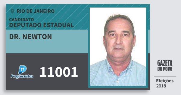 Santinho Dr. Newton 11001 (PP) Deputado Estadual | Rio de Janeiro | Eleições 2018