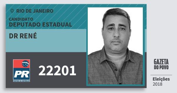 Santinho Dr René 22201 (PR) Deputado Estadual | Rio de Janeiro | Eleições 2018