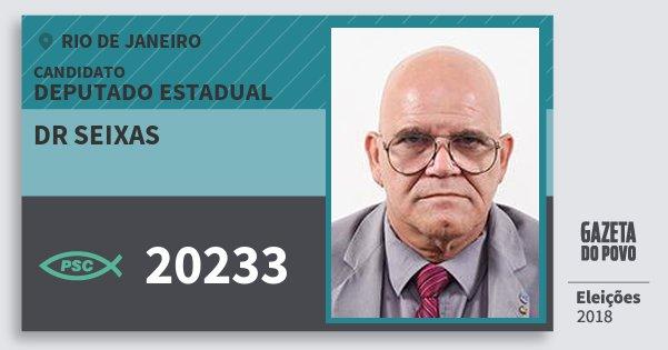 Santinho Dr Seixas 20233 (PSC) Deputado Estadual | Rio de Janeiro | Eleições 2018