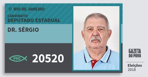 Santinho Dr. Sérgio 20520 (PSC) Deputado Estadual | Rio de Janeiro | Eleições 2018