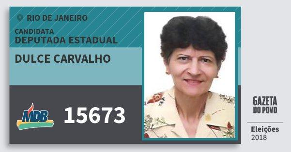 Santinho Dulce Carvalho 15673 (MDB) Deputada Estadual | Rio de Janeiro | Eleições 2018