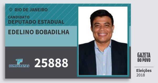 Santinho Edelino Bobadilha 25888 (DEM) Deputado Estadual | Rio de Janeiro | Eleições 2018