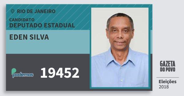 Santinho Eden Silva 19452 (PODE) Deputado Estadual | Rio de Janeiro | Eleições 2018
