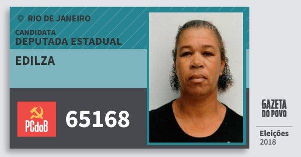 Santinho Edilza 65168 (PC do B) Deputada Estadual | Rio de Janeiro | Eleições 2018