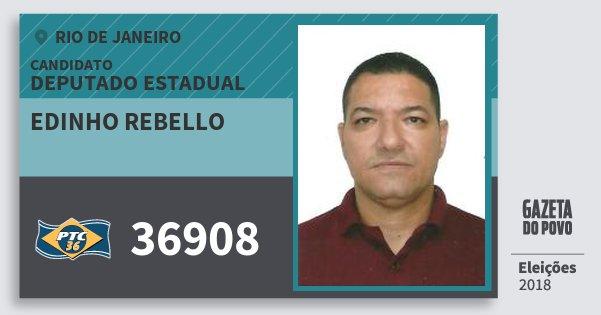 Santinho Edinho Rebello 36908 (PTC) Deputado Estadual | Rio de Janeiro | Eleições 2018