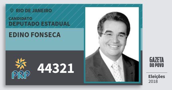 Santinho Edino Fonseca 44321 (PRP) Deputado Estadual | Rio de Janeiro | Eleições 2018