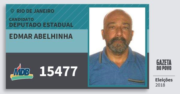 Santinho Edmar Abelhinha 15477 (MDB) Deputado Estadual | Rio de Janeiro | Eleições 2018